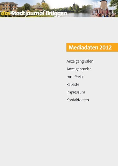 Mediadaten 2012.pdf - Stadtjournal Brüggen