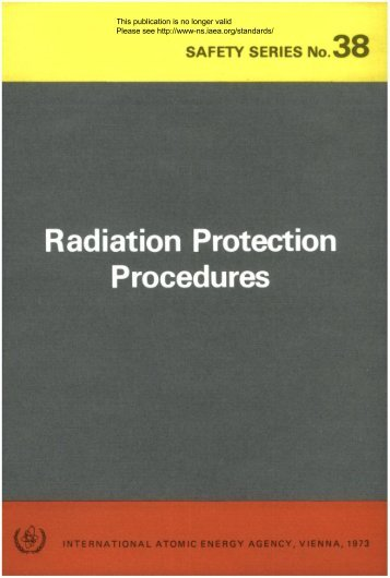 Radiation Protection Procedures - gnssn - International Atomic ...
