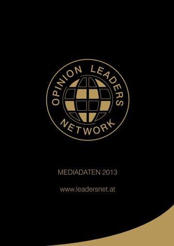 Mediadaten 2013 als PDF - Opinion Leaders Network