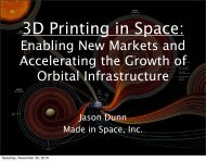 3D Printing in Space: