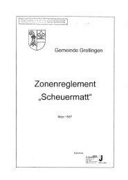 Page 1 Gemeinde Grellingen H t «TL a m r e U e _C ent März '1997 ...