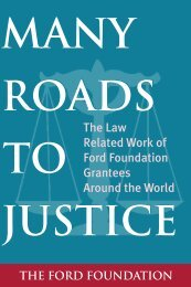 Many Roads to Justice: The Law Related Work of Ford ... - UNDP