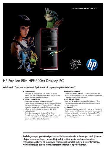 PSG Consumer 1C11 HP Desktop Datasheet