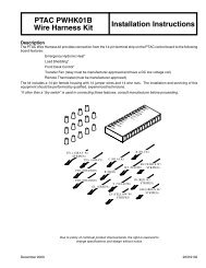 PTAC PWHK01B Wire Harness Kit Installation Instructions