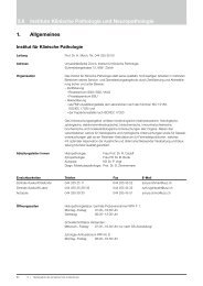3.8 Institute Klinische Pathologie und Neuropathologie 1 ... - UZL