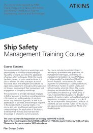 Ship Safety Management Training Course - Atkins