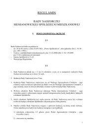 Regulamin Rady Nadzorczej