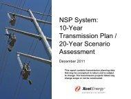 NSP System: 10-Year Transmission Plan / 20-Year ... - Xcel Energy