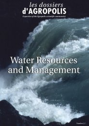 les dossiers d'Agropolis - Water Resources and Management - www ...