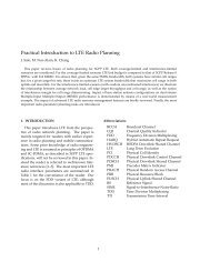 Practical Introduction to LTE Radio Planning