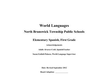 Elementary Grade 1 Spanish Curriculum (pdf) - North Brunswick ...