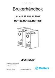 ML420-1400 brukermanual - Dantherm