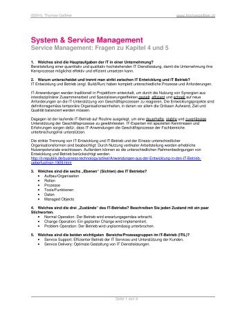 System & Service Management - ThomasGalliker.ch