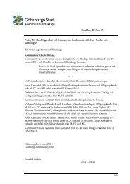 Handling 2013 nr 45 Policy för ökad öppenhet och ... - Göteborg