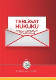 tebligat hukuku çalışması - İstanbul Barosu