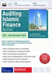Auditing Islamic Finance - MIS Training