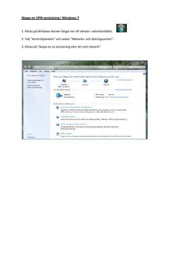 Skapa en VPN-anslutning i Windows 7