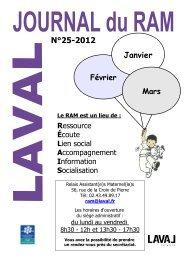 Journal des Assistantes maternelles numéro 25. - Laval