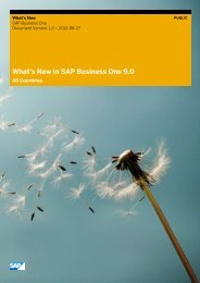 What's New in SAP Business One 9.0