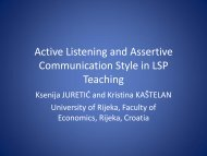 Active Listening and Assertive Communication Style in LSP Teaching