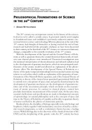 Philosophical Foundations of Science in the 20th Century - Pontifical ...