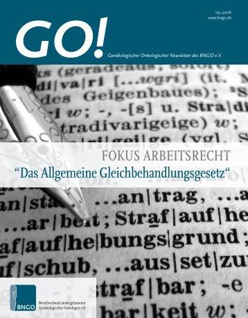 GO!Gynäkologischer Onkologischer Newsletter des BNGO eV