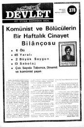 Komünist ve Bölücülerin ir Haftalık Cinayet Bilançosu • 6 Ölü « 45 Y ...