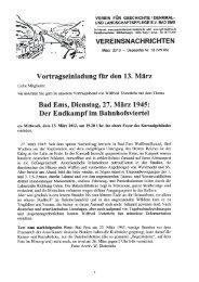 Vereinsnachrichten März 2013 - Depesche Nr. 18 (VN 95)