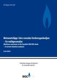 Metanutsläpp i den svenska fordonsgaskedjan –En ... - SGC
