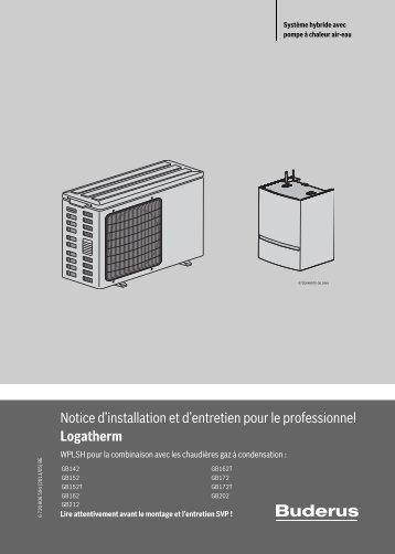 Notice d'installation et d'entretien pour le professionnel Logatherm