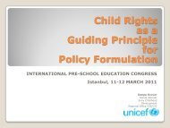 Child Rights as a Guiding Principle for Policy Formulation