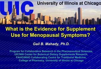 What is the Evidence for Supplement - Office of Dietary Supplements ...