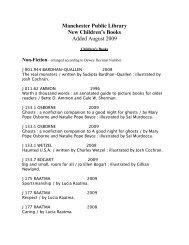Fiction - Manchester Public Library