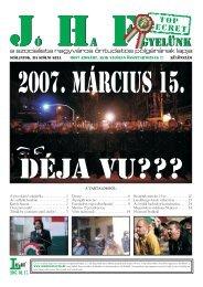 2007/188 SE. szám - Jó Ha Figyelünk