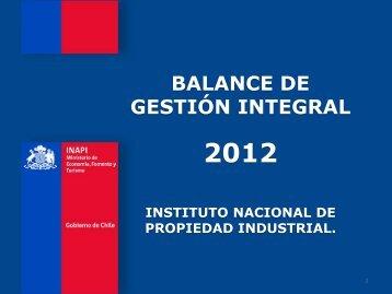 gestión 2012 - Inapi