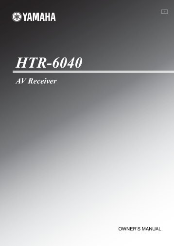 HTR-6040 AV Receiver - Electronic Warehouse