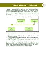 El proceso de adhesión de Guatemala dentro del Programa TFCA ...