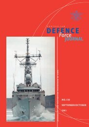 ISSUE 150 : Sep/Oct - 2001 - Australian Defence Force Journal