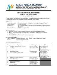 Pengumuman Lelang BPS Kabupaten Tanjung Jabung Barat