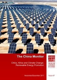The China Monitor - The Centre for Chinese Studies