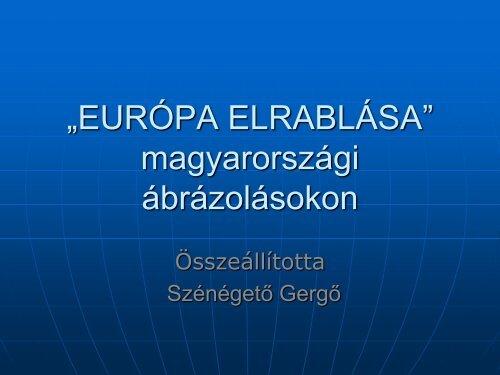 """""""EURÓPA ELRABLÁSA"""" ókori ábrázolásokon - Grotius"""