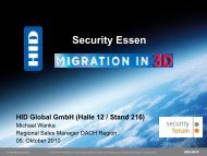 Security Essen HID Global GmbH (Halle 12 / Stand 216) - Security-Forum