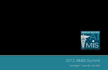 2012 AIMIS Summit - American Institute of Minimally Invasive Surgery