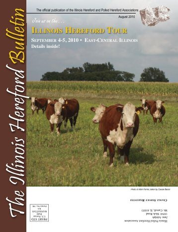 Join us on the… - Illinois Hereford Association