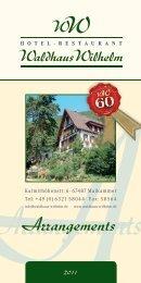 Arrangements - Hotel-Restaurant Waldhaus Wilhelm