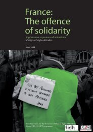 France: The offence of solidarity - World Organisation Against Torture