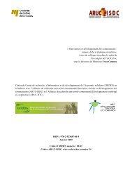 « Intervention et développement des communautés : enjeux ... - UQO