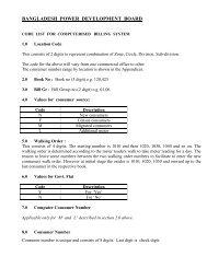 BANGLADESH POWER DEVELOPMENT BOARD - BPDB
