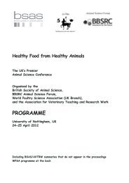 PROGRAMME - British Society of Animal Science