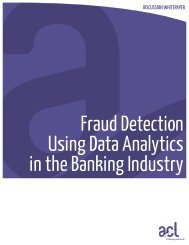 Fraud Detection Using Data Analytics in the Banking Industry - Acl.com